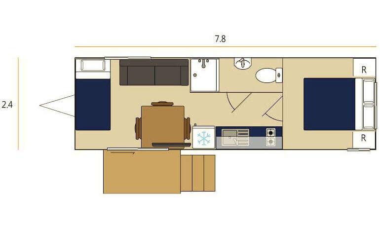 1 bedroom portable unit floor plan