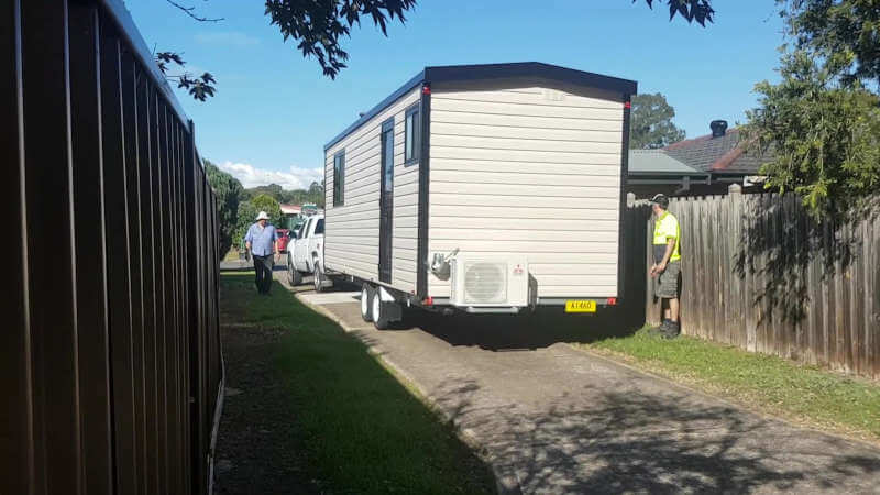 Packing up a portable granny flat