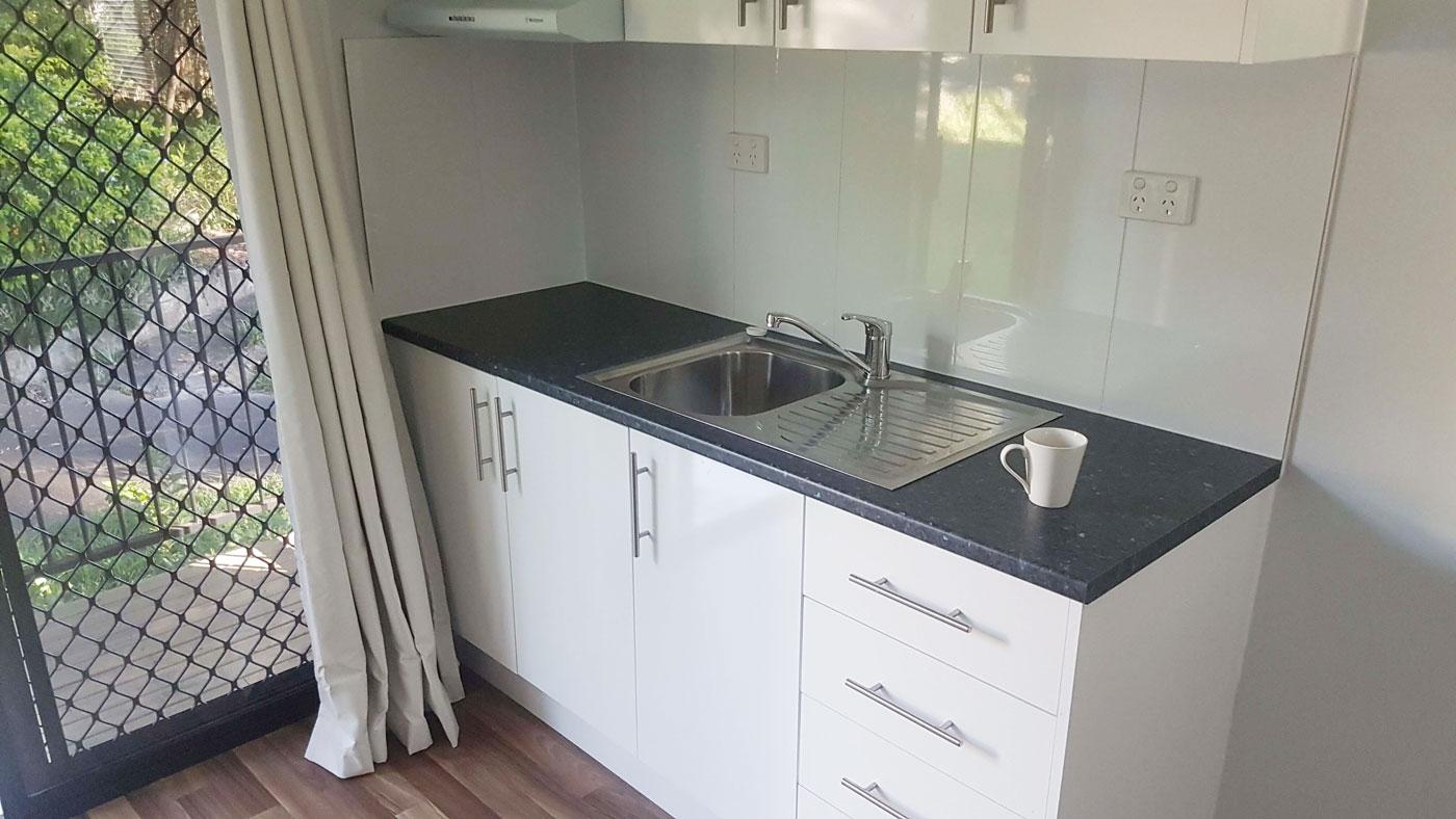 Kitchen inside unit