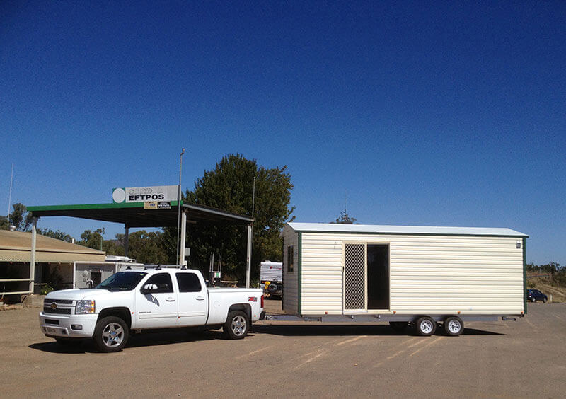 A Cabins Sydney rental being transported to its new home in NSW