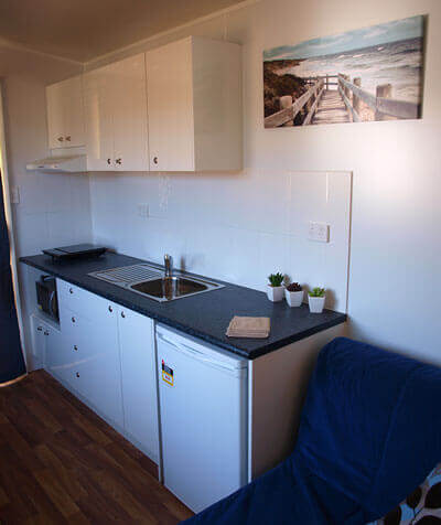 Kitchen of a Cabin for rent in Sydney